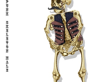 Halloween  Paper prop articulated Steampunk skeleton paper doll Male