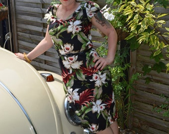 Hawaiian pin up dress  CUSTOM MADE -2 versions available-