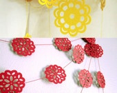 Red Garland and Yellow Garland - Flower Garland - Garland Package