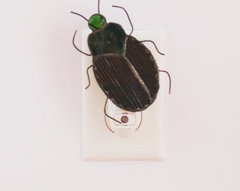 Stained Glass Japanese Beetle Insect Light Sensor Night Light
