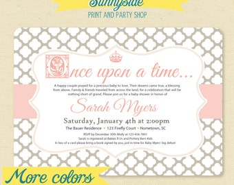 Fairytale Storybook Baby Shower Invite / Little Princess Invitation