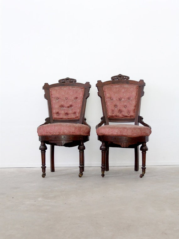 Antique Renaissance Revival Chairs 1800s Dining Chairs