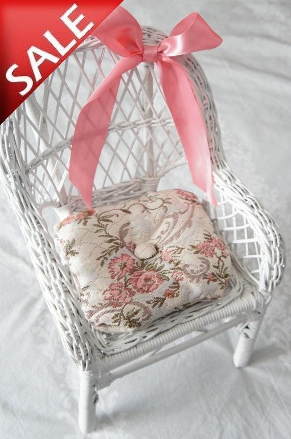 Small Wicker Doll Chair White Doll Chair American Girl