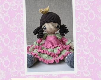 PATTERN - Princess Silver-shoe - crochet pattern, amigurumi pattern, pdf