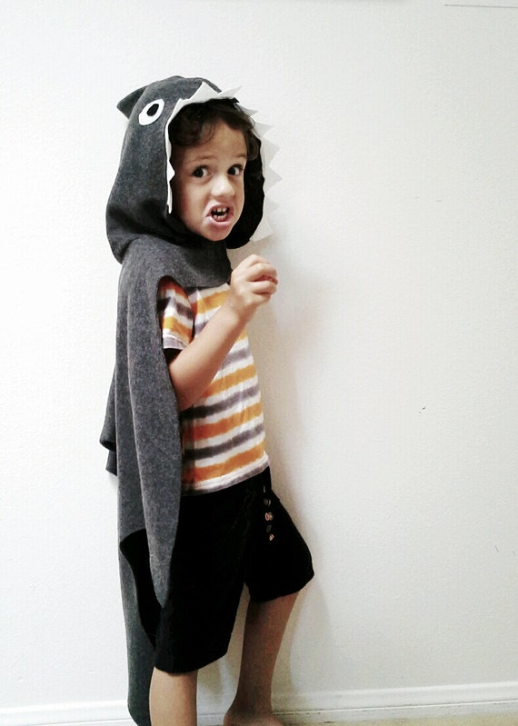 Shark Cape, Halloween Costume or Dress Up Cape for all ages