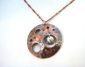 Mission to Mars Copper and Silver Pendant Necklace