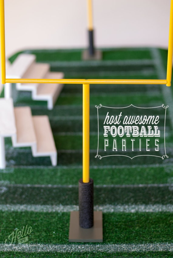 Football Goal Posts - Party Table Decorations