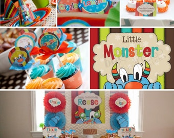DIY printable birthday party package - tickle monster inspired