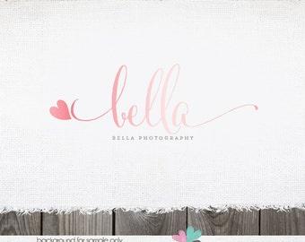 Photography Logo - heart logo - logo for photography -  premade logo  - logo design - logos for photographer small business logo logos