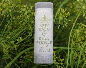 Lip Balm Dill Pickle Lip Balm, Unique Gifts for Women, Dill Pickle Chapstick gifts for her  Pregnancy gifts Novelty and Gag Gifts