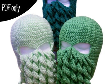 Crochet Pattern - Cthulhu Ski Mask - PDF file only