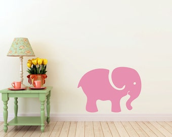 Baby Elephant  vinyl Wall DECAL- nursery animal, interior design, sticker art, room, home and business decor