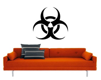 Biohazard Decal | Vinyl Wall Sticker | Radiation Apocoliptic