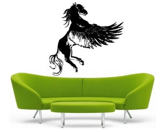 Pegasus Wall vinyl DECAL-magical Animal interior design, sticker art, room, home and business decor