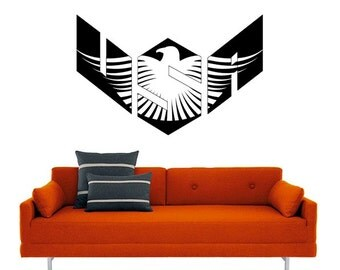 USA Eagle Vinyl Wall Decal- original art, Eyval Decal - United States of America, Eagle Freedom