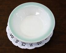 Vintage Shenango China Berry Bowl w/Seafoam Green Rim (E4114)