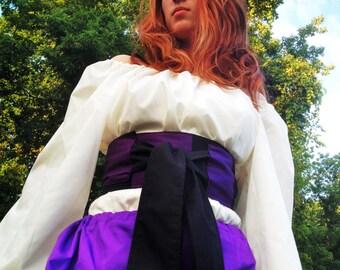 Purple and Black Striped Waist Cincher Belt