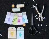 DIY Baby Robot Tags Set