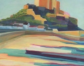 """Fine Art PRINT Limited Edition - Abstract of Gorey Castle, Jersey - 12x12"""""""