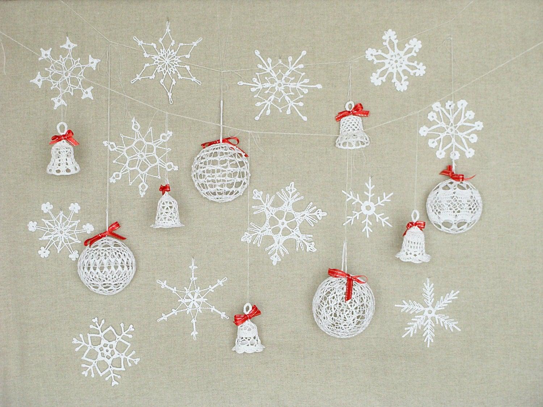 21 spitze weihnachtsschmuck schneeflocken h keln h keln. Black Bedroom Furniture Sets. Home Design Ideas