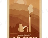 Waialua Sugar Mill - 12x18 Retro Hawaii Print