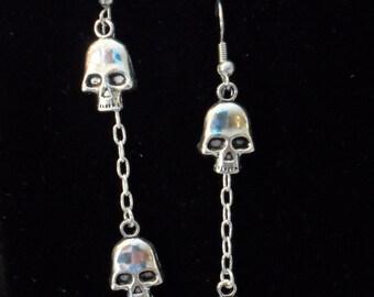 Double Skull Earrings