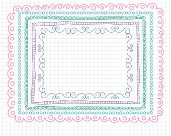 "Doodled Border - 8.5x11"" Frames for Worksheets - Educational Borders and Frames"