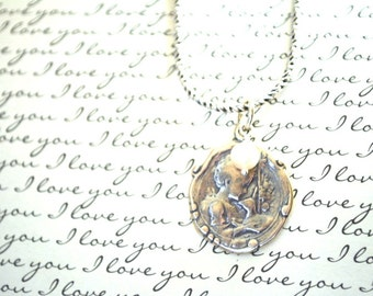 St John the Baptist and Lamb Medal Neckace - Sterling Silver Medal - Religious Jewelry