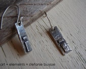 "Handmade ""Path Ahead"" Earrings - PMC - Sterling Silver - Geometric - Industrial - Textured"