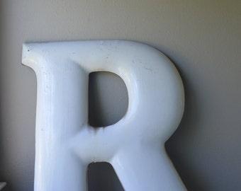 Huge Porcelain Letter R