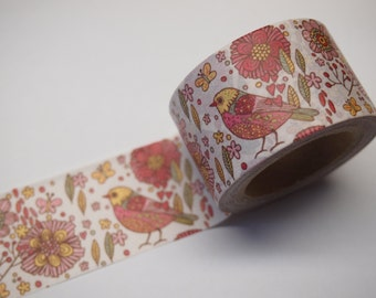Flower and Bird Washi Tape (30mm X 10M)