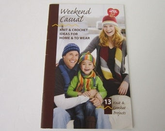 Weekend Casual Book Knit and Crochet Patterns Hat Scarf Knitting Shawl Pillow Dog Sweater