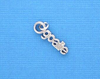 GOALIE Silver Plated Charm Pendant chs1529