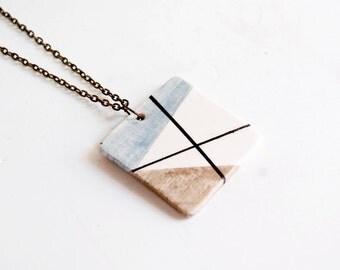 Modern jewelry ceramic pendant necklace, Ceramic jewelry, Geometric jewellery, Ceramics & pottery, Pendants, Original necklaces, Ceramics