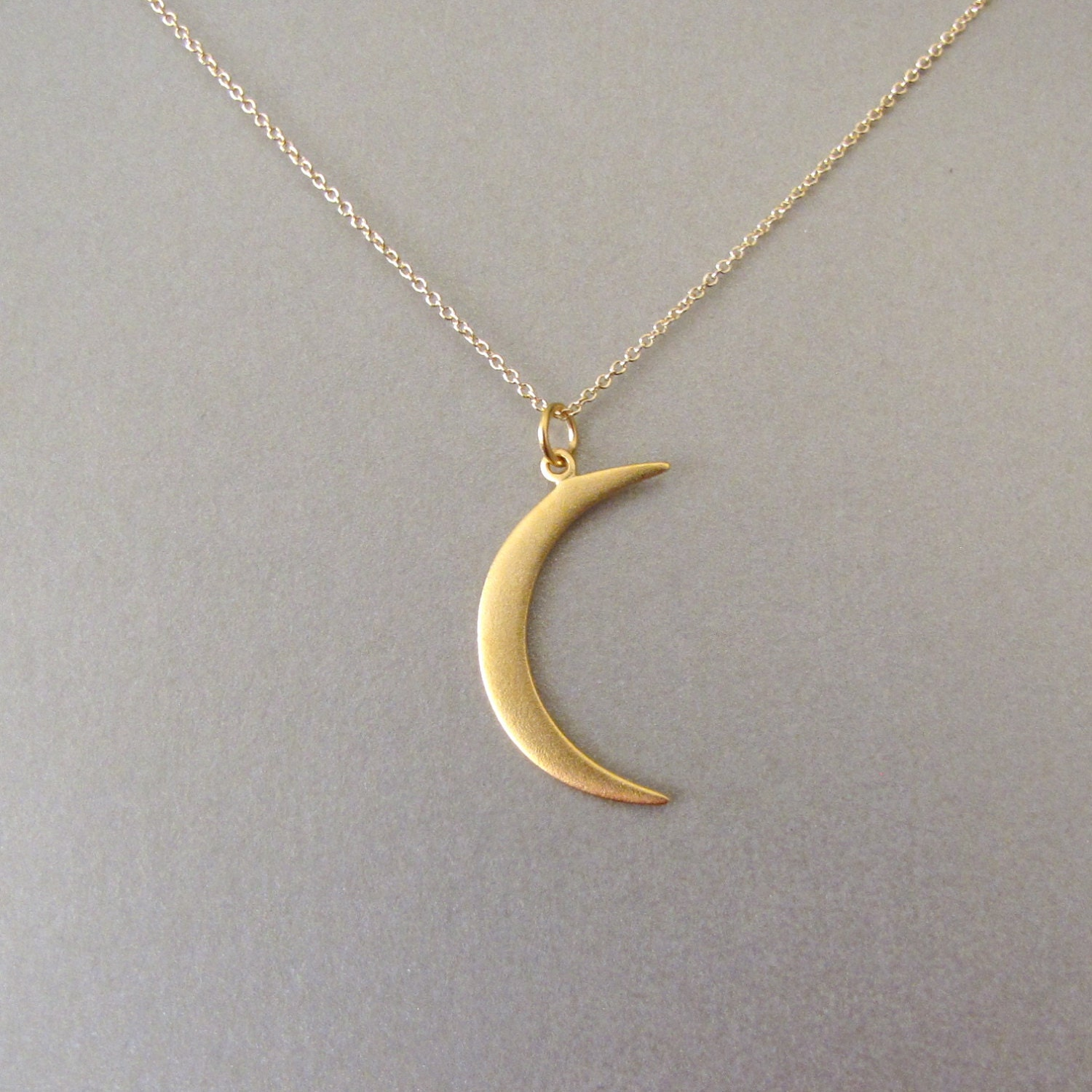 Gold Crescent Moon Necklace Crescent Moon by ...