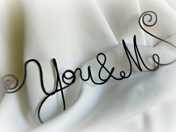 Master Bedroom Decor, Wire Hanging Sign, You & Me