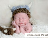 Viking Set Crochet Baby Boy Hat, Diaper cover and a Club Photography Prop Ready Item