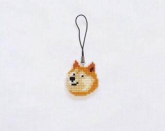 Doge phone charm