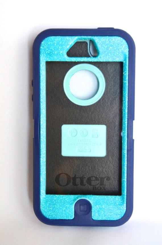 Case Design defender phone cases : ... Sparkly Bling Defender Series Custom Case Blue / Navy blue on Etsy