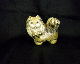 Artesania Rinconada 25th Anniversary Persian Cat, Large Cat,Rinconada Animals, 18K Gold and Platinum Rinconada,Rinconada Persian Cat,Uruguay