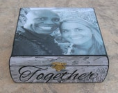 Personalized Wedding Keepsake Box, Unique Engagement Gift, Custom Wedding Gift, Anniversary Gift, Photo Memory Box