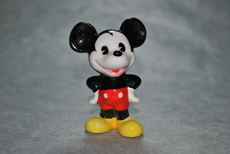 Vintage Ceramic Mickey Mouse Figurine Walt Disney