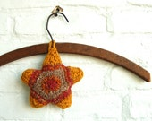 Hand Knit Star Sachet Lavender and Clove Fragrance Closet Ornament Air Refresher Natural