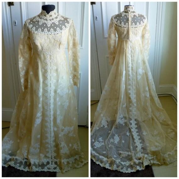 Vintage Wedding Dresses Boston: Vintage 60s Couture Priscilla Of Boston Wedding Gown