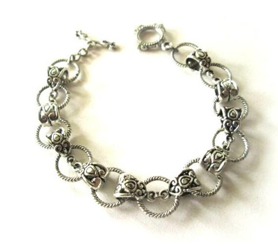 Tibetan silver bracelet jewelry, Simple bracelet