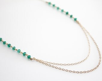Layered Stone Necklace // multiple colors available