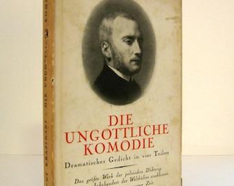 Great Polish Poet in a German Translation - Zygmunt Krasinski, Die Ungöttliche Komödie A Verse Drama about Class Conflict 1936 Vintage Book