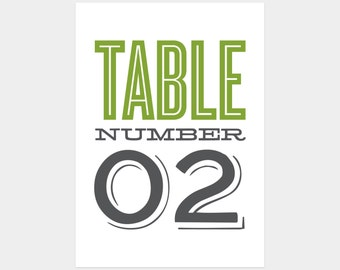Printable - Old Fashioned Table Numbers
