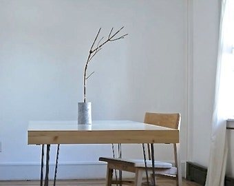Handmade Steel 7/16 Hairpin Dining or Sofa Table Legs, sold in sets of 4