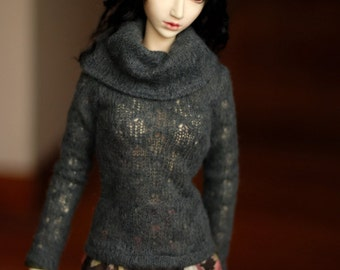 Super Gem Grey Cowl Neck Sweater For SD BJD - Last One
